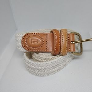 Vtg Liz Claiborne beige 100% cotton belts M&L